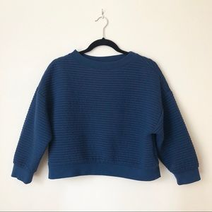 Sweaters - Cropped Blue Sweater